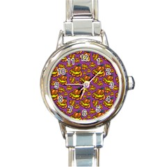 1pattern Halloween Colorfuljack Icreate Round Italian Charm Watch