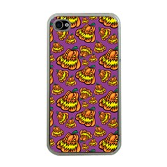 1pattern Halloween Colorfuljack Icreate Apple Iphone 4 Case (clear)