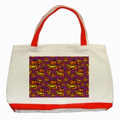 Halloween Colorful Jackolanterns  Classic Tote Bag (red)