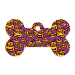 Halloween Colorful Jackolanterns  Dog Tag Bone (one Side)