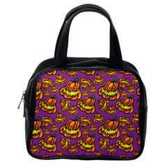 Halloween Colorful Jackolanterns  Classic Handbags (one Side)