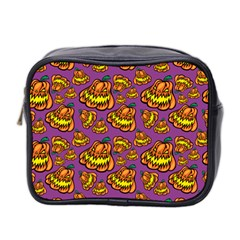 Halloween Colorful Jackolanterns  Mini Toiletries Bag 2 Side