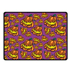Halloween Colorful Jackolanterns  Fleece Blanket (small)