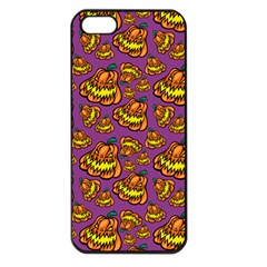 Halloween Colorful Jackolanterns  Apple Iphone 5 Seamless Case (black)