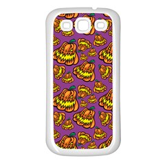 Halloween Colorful Jackolanterns  Samsung Galaxy S3 Back Case (white)
