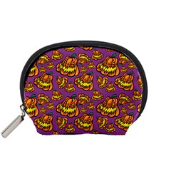 Halloween Colorful Jackolanterns  Accessory Pouches (small)