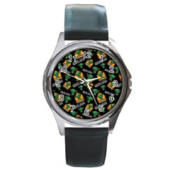 Halloween Ghoul Zone Icreate Round Metal Watch