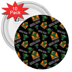 Halloween Ghoul Zone Icreate 3  Buttons (10 Pack)