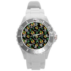 Halloween Ghoul Zone Icreate Round Plastic Sport Watch (l)