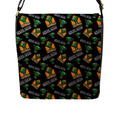 Halloween Ghoul Zone Icreate Flap Messenger Bag (l)