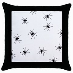 Spiders Throw Pillow Case (black)