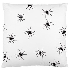 Spiders Large Flano Cushion Case (two Sides)