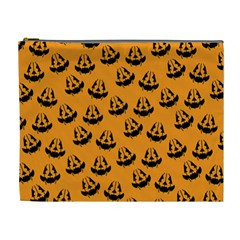Halloween Jackolantern Pumpkins Icreate Cosmetic Bag (xl)