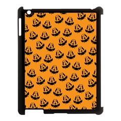 Halloween Jackolantern Pumpkins Icreate Apple Ipad 3/4 Case (black)