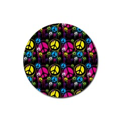 Peace Drips Icreate Rubber Coaster (round)