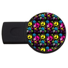 Peace Drips Icreate Usb Flash Drive Round (2 Gb)