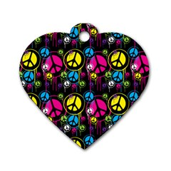 Peace Drips Icreate Dog Tag Heart (two Sides)