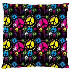 Peace Drips Icreate Large Cushion Case (one Side)
