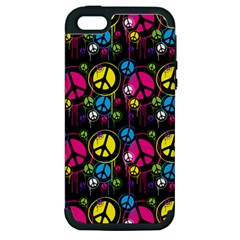 Peace Drips Icreate Apple Iphone 5 Hardshell Case (pc+silicone)