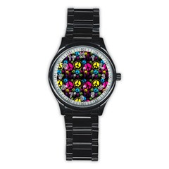 Peace Drips Icreate Stainless Steel Round Watch
