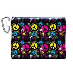Peace Drips Icreate Canvas Cosmetic Bag (xl)