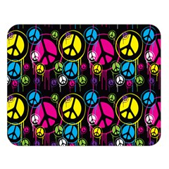 Peace Drips Icreate Double Sided Flano Blanket (large)