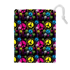 Peace Drips Icreate Drawstring Pouches (extra Large)