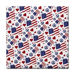 Peace Love America Icreate Tile Coasters