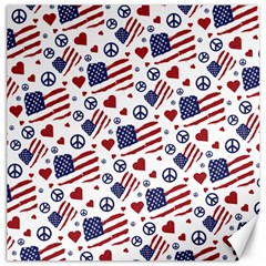 Peace Love America Icreate Canvas 20  X 20