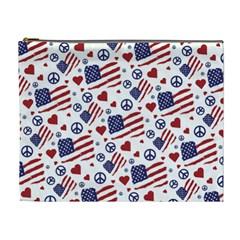 Peace Love America Icreate Cosmetic Bag (xl)
