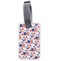 Peace Love America Icreate Luggage Tags (one Side)