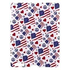 Peace Love America Icreate Apple Ipad 3/4 Hardshell Case