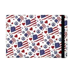 Peace Love America Icreate Apple Ipad Mini Flip Case