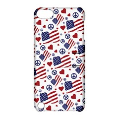 Peace Love America Icreate Apple Ipod Touch 5 Hardshell Case With Stand
