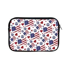 Peace Love America Icreate Apple Ipad Mini Zipper Cases