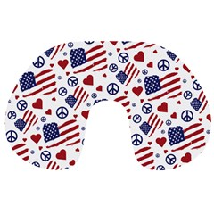 Peace Love America Icreate Travel Neck Pillows