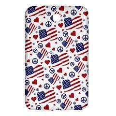 Peace Love America Icreate Samsung Galaxy Tab 3 (7 ) P3200 Hardshell Case