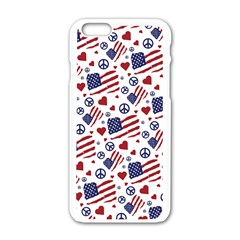 Peace Love America Icreate Apple Iphone 6/6s White Enamel Case