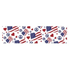 Peace Love America Icreate Satin Scarf (oblong)