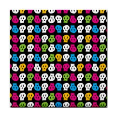 Pattern Painted Skulls Icreate Tile Coasters