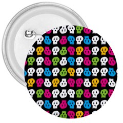 Pattern Painted Skulls Icreate 3  Buttons