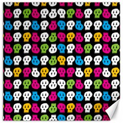 Pattern Painted Skulls Icreate Canvas 12  X 12