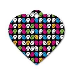 Pattern Painted Skulls Icreate Dog Tag Heart (two Sides)