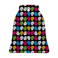 Pattern Painted Skulls Icreate Bell Ornament (two Sides)