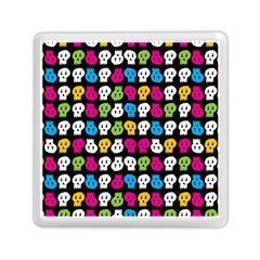 Pattern Painted Skulls Icreate Memory Card Reader (square)