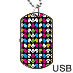 Pattern Painted Skulls Icreate Dog Tag Usb Flash (two Sides)