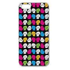 Pattern Painted Skulls Icreate Apple Seamless Iphone 5 Case (clear)