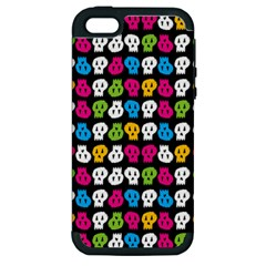 Pattern Painted Skulls Icreate Apple Iphone 5 Hardshell Case (pc+silicone)