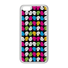 Pattern Painted Skulls Icreate Apple Iphone 5c Seamless Case (white)
