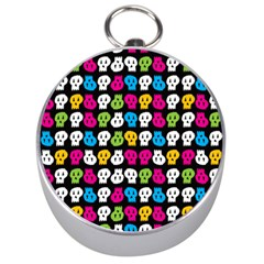Pattern Painted Skulls Icreate Silver Compasses